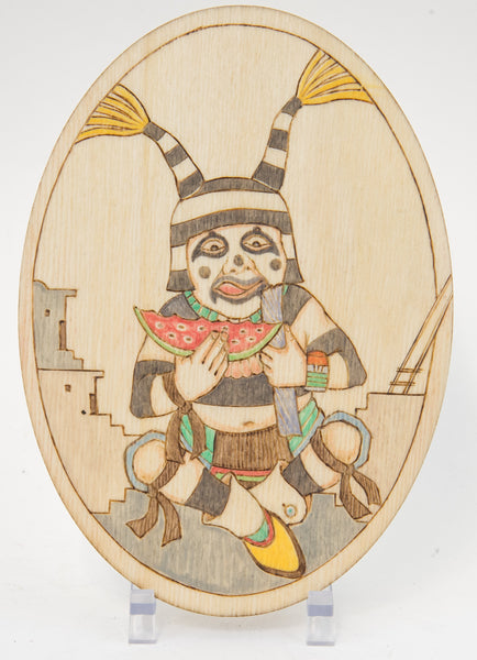 Tewa Clown Plaque by Ted Pavatea