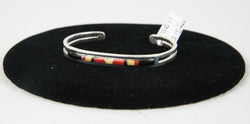 Black Onyx, Tanolite, and Red Coral Bracelet by Patrick Smith