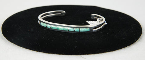 Nevada Searchlight Green Turquoise Bracelet by Patrick Smith