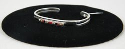 Black Onyx, Wild Horse, and Red Coral Bracelet by Patrick Smith