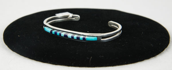 Turquoise and Lapis Bracelet by Patrick Smith