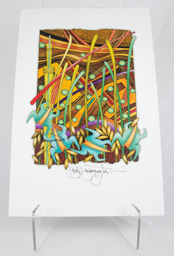 """Moisture Continues"" Signed Print by David Dawangyumptewa"