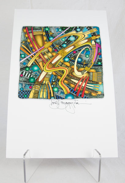 """Cozmos Hopi II"" Signed Print by David Dawangyumptewa"