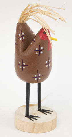 Small Folk Art Chickens by Edith John