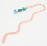Large Copper Turquoise Bookmark