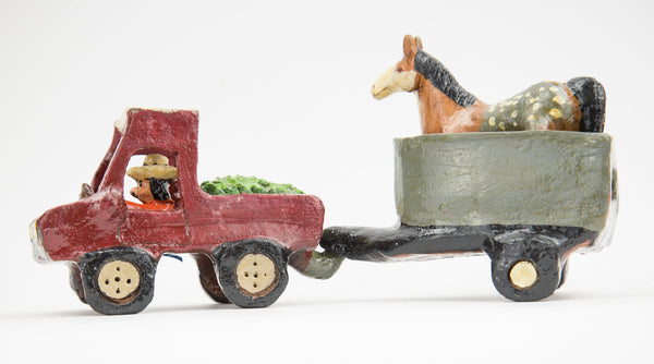 """Pickup with Horse Trailer"" by Jonathan Chee"