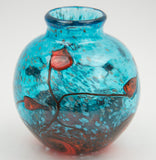 Short Botanical Glass Vase by George Averbeck