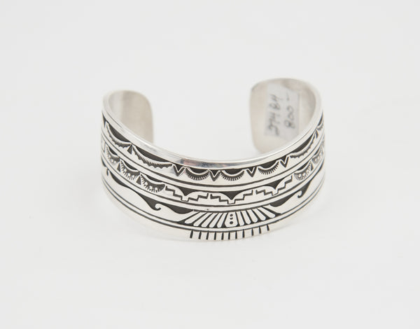 Medium Sterling Silver Overlay Sweater Bracelet by Charlie John