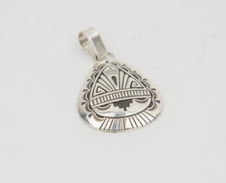 Sterling Silver Overlay Pendant by Charlie John