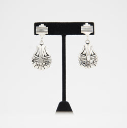 Sterling Silver Stamped Dangle Earrings by Charlie John