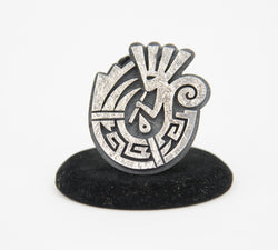 Sterling Silver Overlay Kokopelli Ring by Ruben Saufkie