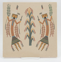 """Corn Dancers"" Sandpainting by Jeremy Steven Lee"
