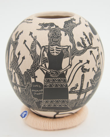 """Day of the Dead"" Jar by Emilana Loza"
