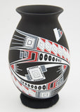 Black Geometric Jar by O. Gonzales