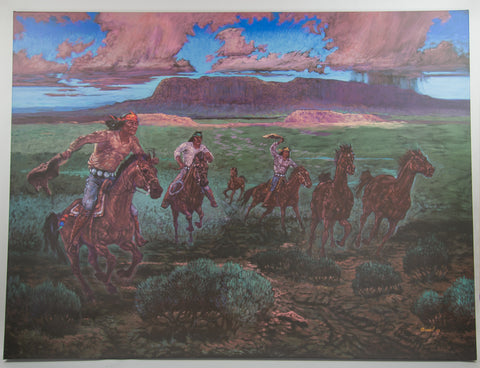 """Buckskin Round-Up"" Painting by Jack Isaac"