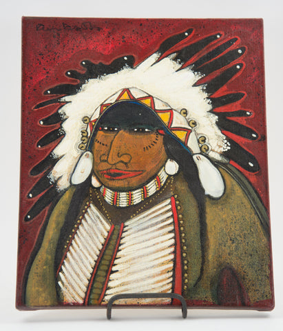 """Crow Indian"" Painting by Kevin Red Star"