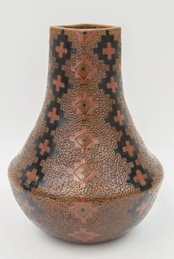 Large Pitched Polychrome Jar by Lorraine Y. Williams