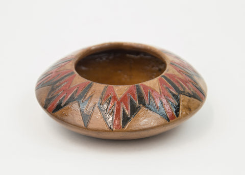 Pitched Polychrome Bowl by Lorraine Y. Williams