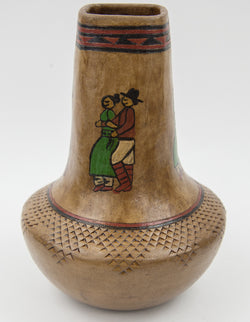 Tall Social Dancers Vase by Lorraine Y. Williams