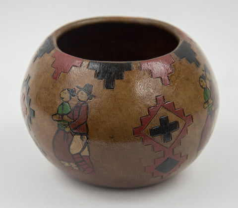 Medium Social Dancers Pot by Lorraine Y. Williams