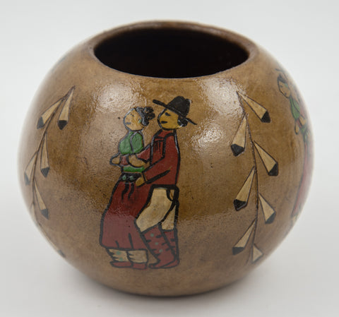 Small Social Dancers Pot by Lorraine Y. Williams