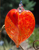 Glass Heart Ornaments by George Averbeck