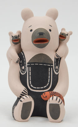 White Storyteller Bear by Dorothy Herrera