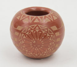 Red Sgraffito Bowl by Ivan Red Starr