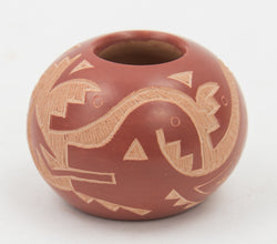 Red Sgraffito Bowl by Candelaria Suazo