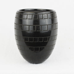 Black Scribed Jar