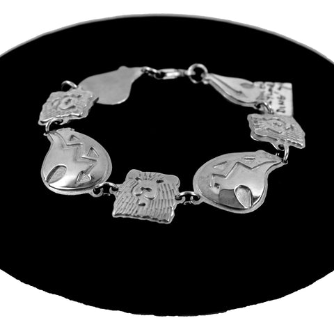 Sterling Silver Bear Link Bracelet by Chantel Taylor