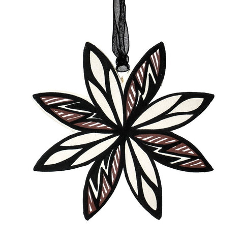 Clay Snowflake Ornament by Yolanda LaMone