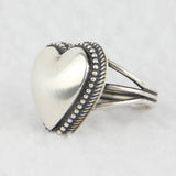 Sterling Silver Heart Design Ring