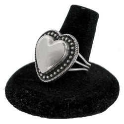 Sterling Silver Heart Ring by Curtis Pete (Size 8.5)