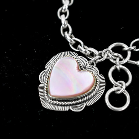 Mother of Pearl Heart Bracelet