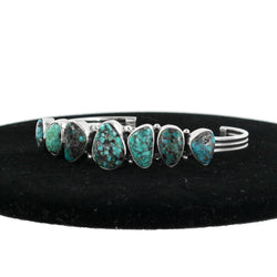Stone Mountain Turquoise Cuff by Curtis Pete