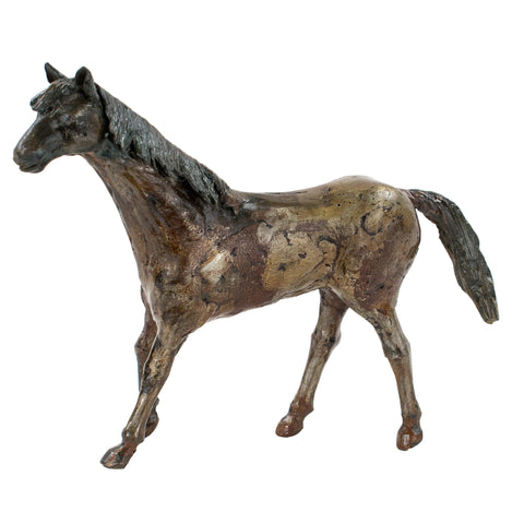Small Bronze Horse Sculpture by Joe Lester