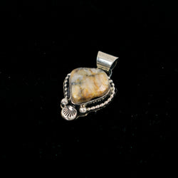 Sterling Silver & Gold Ore Pendant by Jeannette Dale