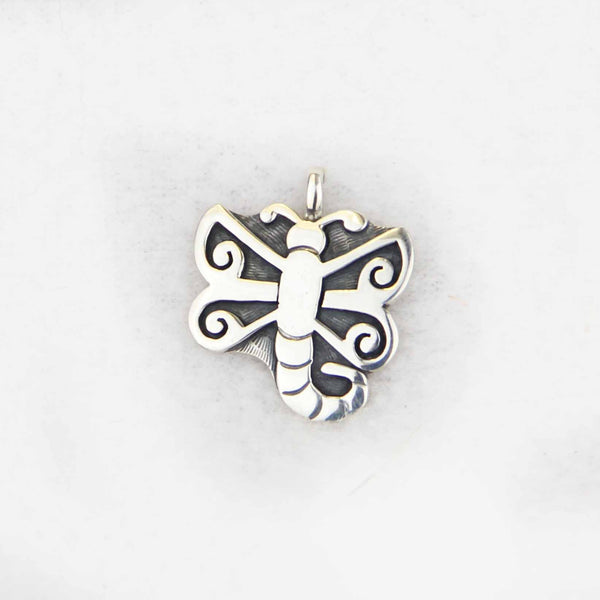 Sterling Silver Overlay Dragonfly Pendant