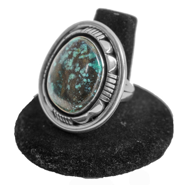 Emerald Ridge Turquoise Ring by Lonnie Willie (Size 7.75)