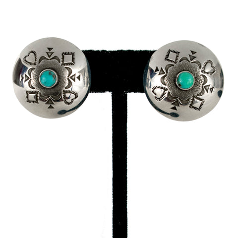 Sterling Silver and Turquoise Earrings by Kee Nataani