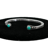 Sterling Silver Cuff Bracelet with Turquoise by Karl Nataani