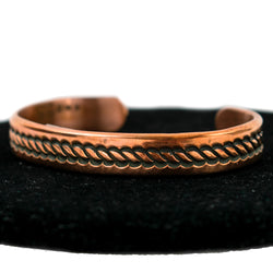 Stamped Copper Bracelet by Karl Nataani