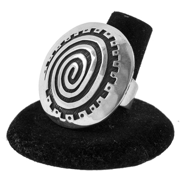 "Sterling Silver ""Migration"" Ring by Kee Yazzie (Size 7.75)"