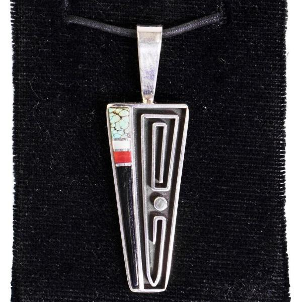 Channel Inlay Wire Pendant by Albert Nells
