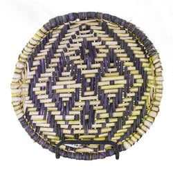 Small Natural Rim Sifter Basket by Marvene Dawahoya
