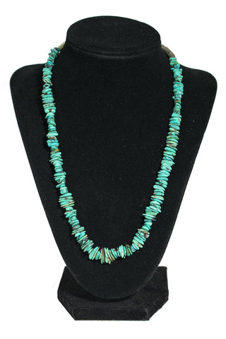 Turquoise & Abalone Shell Necklace by Lester Abeyta