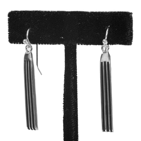 "1 1/2"" Tracks Earrings by Frances Jones"