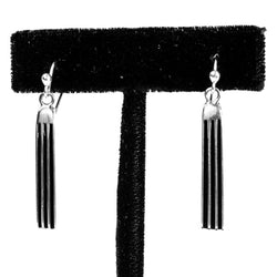 "1 1/4"" Tracks Earrings by Frances Jones"