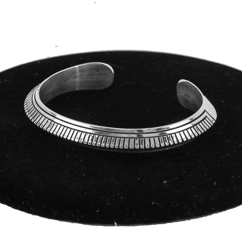 Sterling Silver Cuff by Sylvanna Apache & Randy Secatero